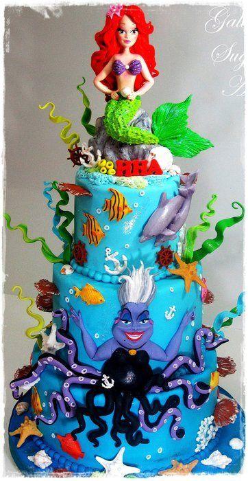 Ariel Cakes And Disney Themed Weddings On Pinterest