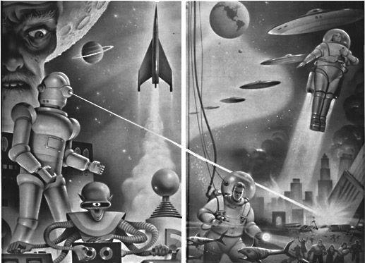 Old science fiction Retro cartoons jukebox gmen