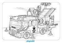 camin de bomberos playmobil para colorear en playmyplanet