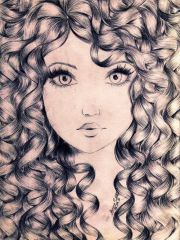 drawing hair art