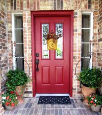 Red??? Front Door to Brick House | House | Pinterest ...