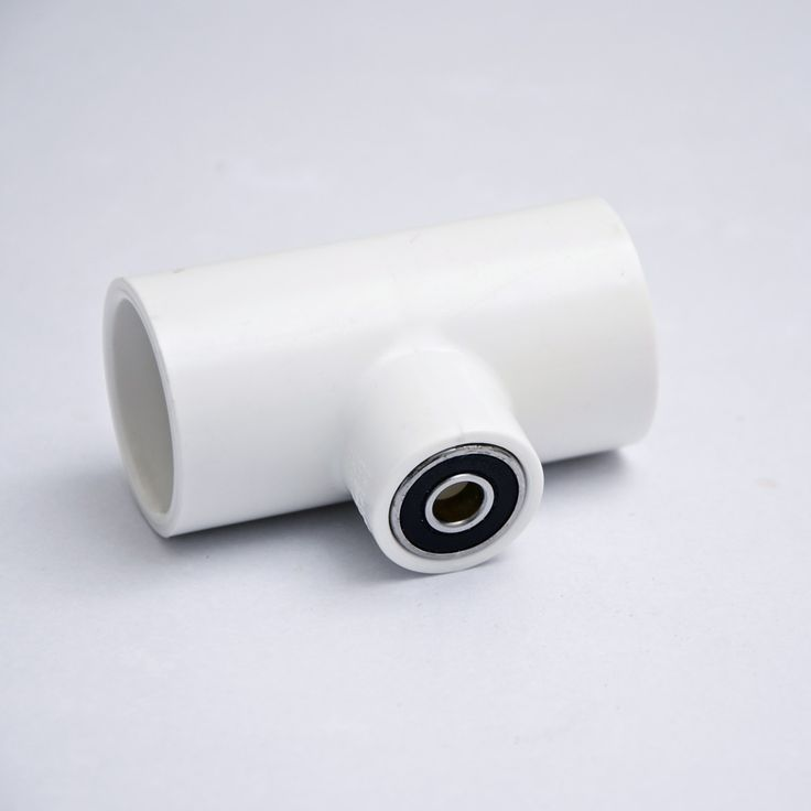 Skateboard bearing fits a 1 inch PVC connector Great if