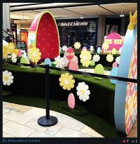 A Center Stage Production #Easter display at the mall in ...