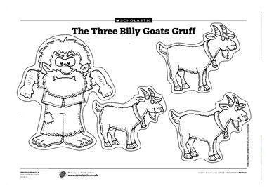 Goats, Cut outs and Printables on Pinterest