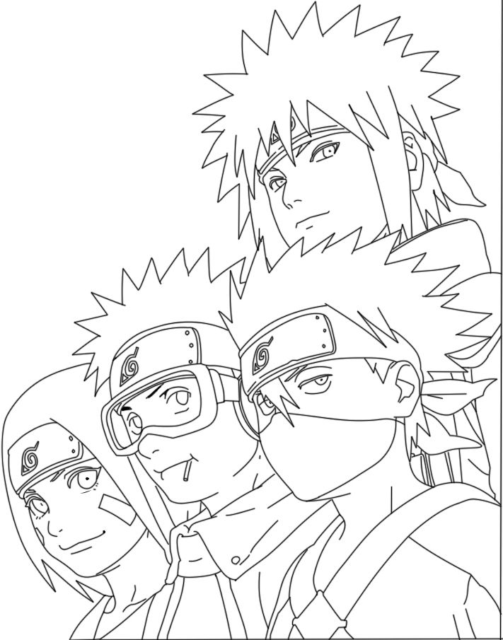 116 best images about naruto coloring pages on Pinterest