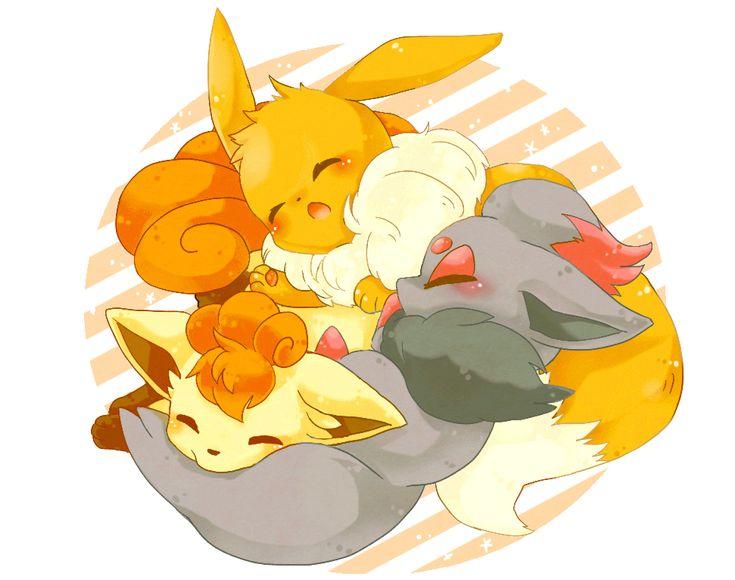 Eevee vulpix zorua pokemon pokemon eevee pinterest