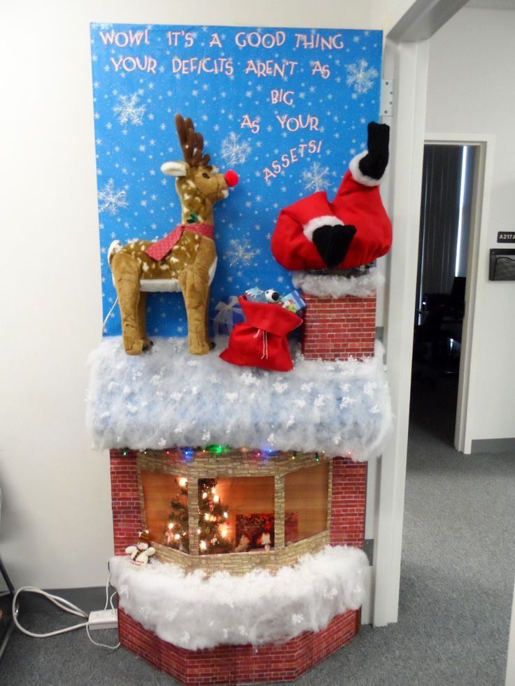 Door Decorating Contest For Christmas Office Door