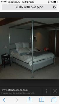 PVC bed canopy | PVC pipe stuff! | Pinterest | Beds ...