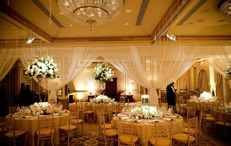 Wedding Reception Tables Gold  White  Our Wedding