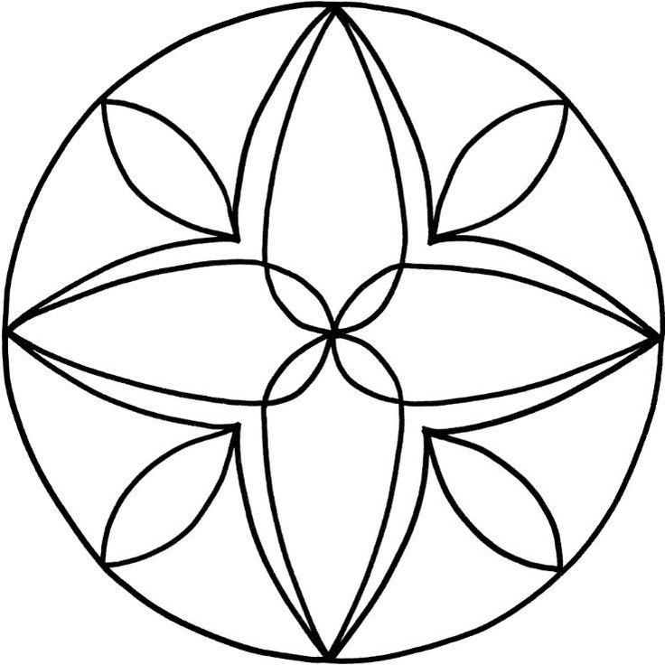 Mandalas zum Ausdrucken Tolle Blumen-Mandala-Vorlage zum