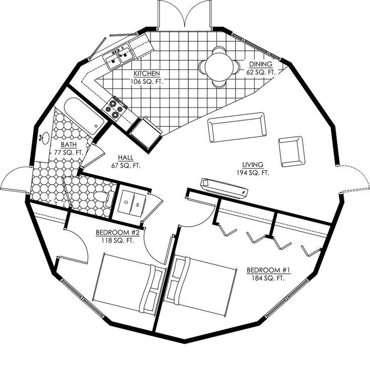 Deltec Floorplan 2 Bed1 Bath Augusta Shell Modular Mfg Amp Kit Homes Pinterest Squares