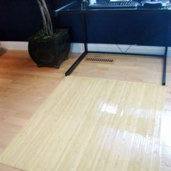 Desk Chair Mat For Hardwood Floors Ball Benefits Natural Birch Wood Bamboo Office Floor Hard Protector Chairmat ...