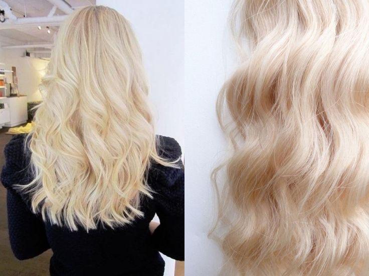 Colour 613 Platinum Blonde Hair Extensions By VHampB
