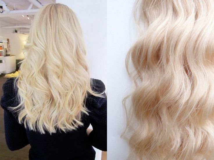Colour 613 Platinum blonde hair extensions by VHB