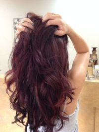 redken rv color | Red violet hair color with red ...