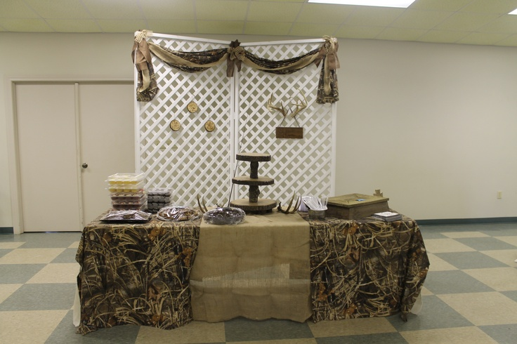 Camo grooms table  MJ Wedding Ideas  Pinterest  Tables Grooms and Camo
