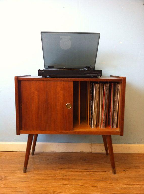 Record Storage Cabinet  Vinyls Cinderella and Belle