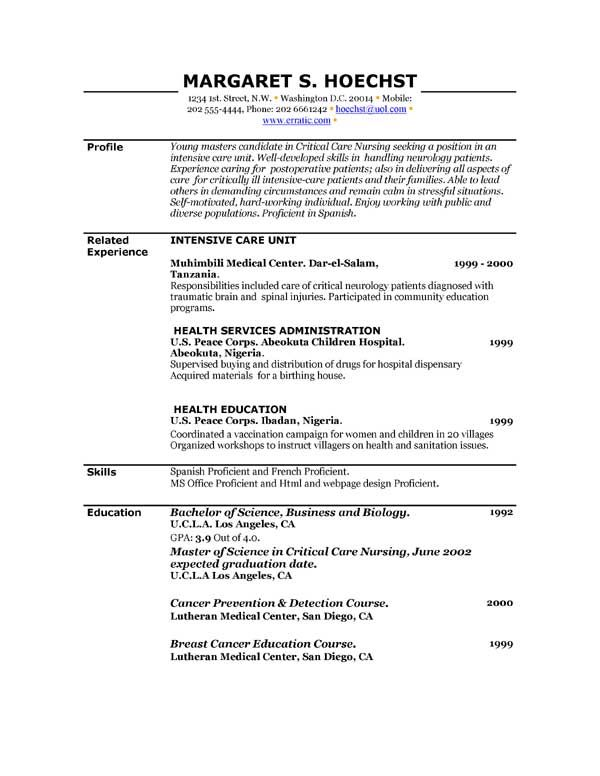 free printable resume builder templates