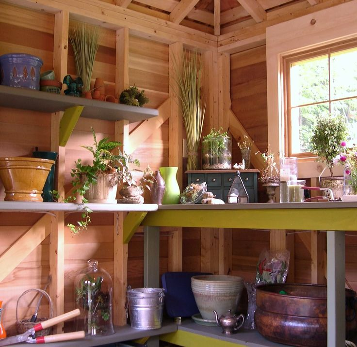 77 Best Images About Garden Shed Interior On Pinterest Potting