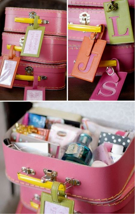 """Pack her a personalized bridesmaids survival kit. 