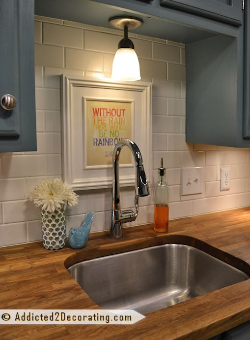 Check Out My New HandsFree Kitchen Faucet  Subway tile