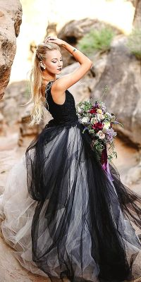 25+ best ideas about Black wedding dresses on Pinterest ...