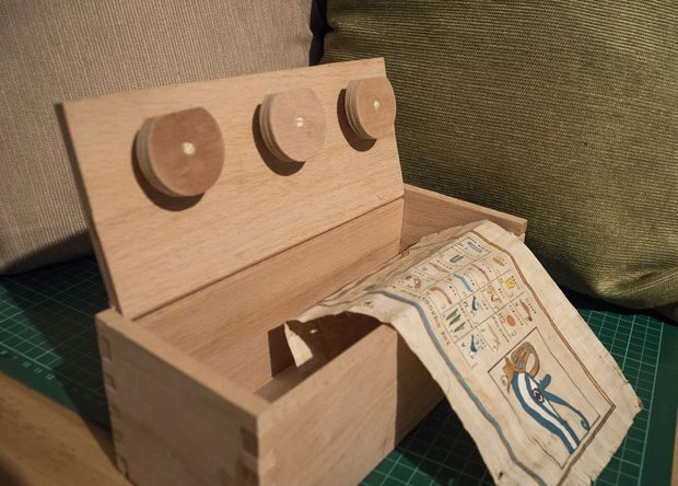 Puzzle Box  With Changeable Combination