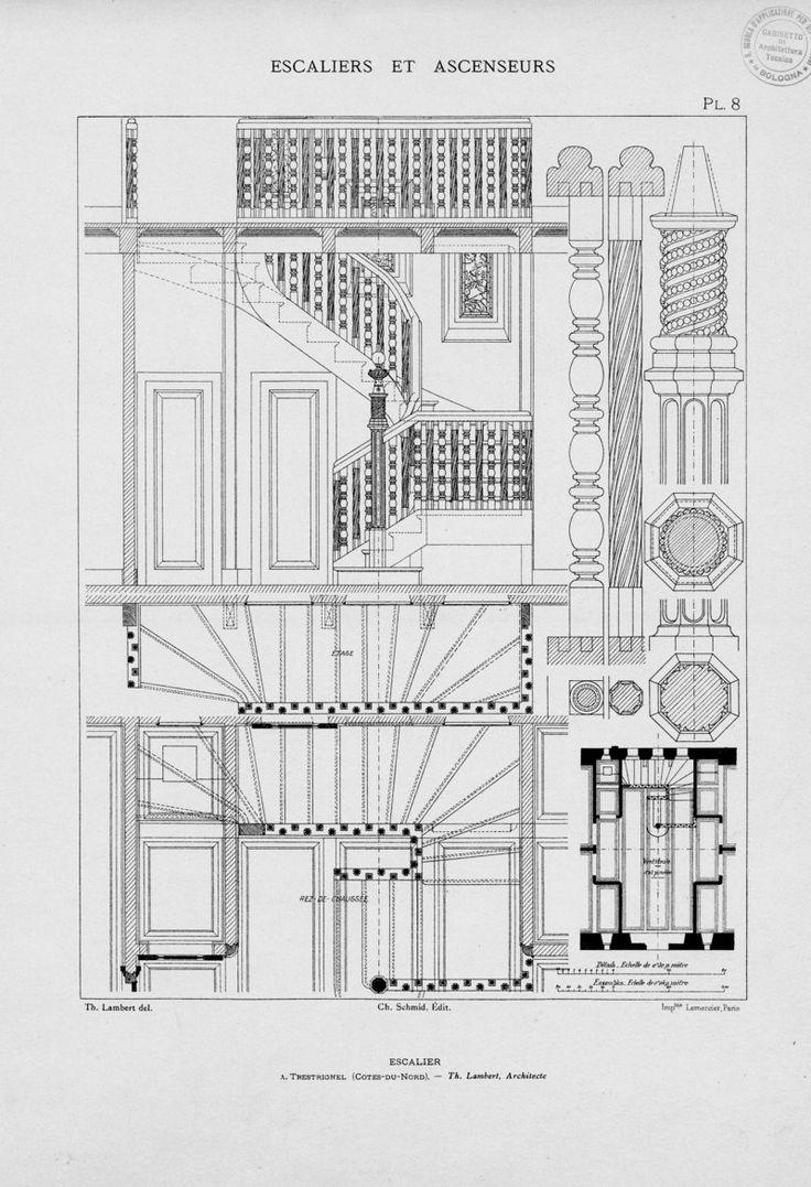 Escaliers et ascenseurs : ensembles et details d'ex