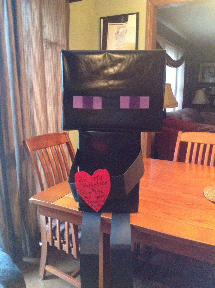 Enderman V Day Box So Simple To Make Valentines Day Ideas Pinterest Simple Parties And