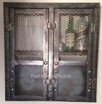 Rustic liquor cabinet, reclaimed industrial cabinet ...