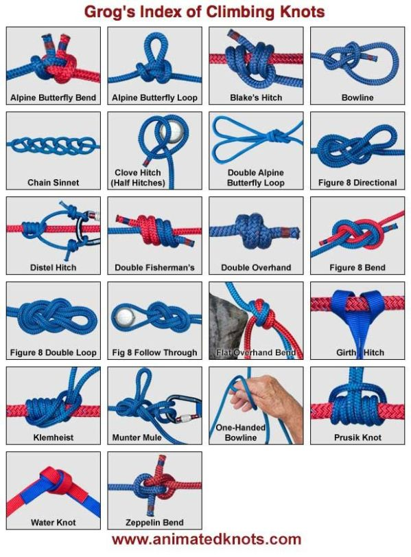 Here is a very interesting set of various climbing knots