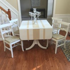 Dining Table Set 6 Chairs Striped Accent With Arms Duncan Phyfe Makeover. | Style Chalk Paint Redo Pinterest