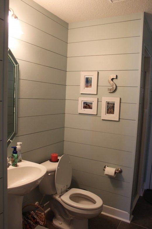 hardiplank for walls  so smart  bathroom  Pinterest