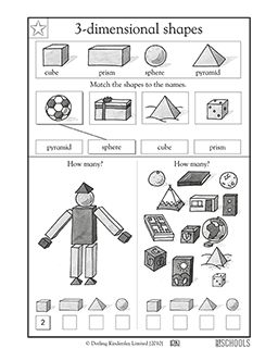 25+ best ideas about 3d Shapes Worksheets on Pinterest