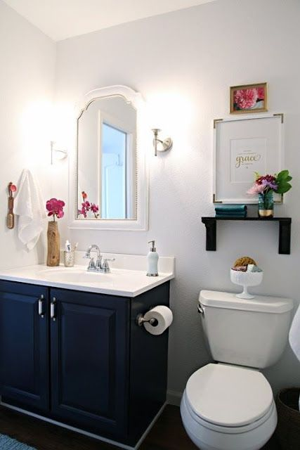 17 Best images about Navy Blue Bathroom Cabinets