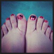 disney nails - minnie and mickey