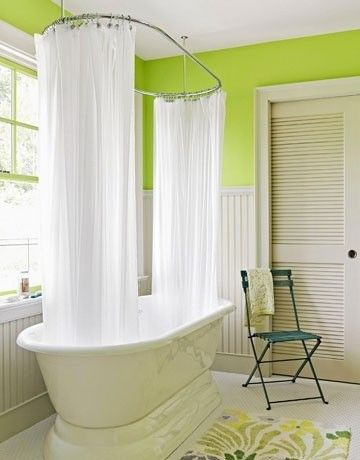 7 Best Images About Claw Tub Shower Curtain Rods On Pinterest