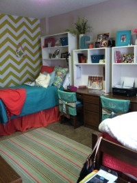 Pillowcases as a way to decorate chairs! Good idea!   Dorm ...