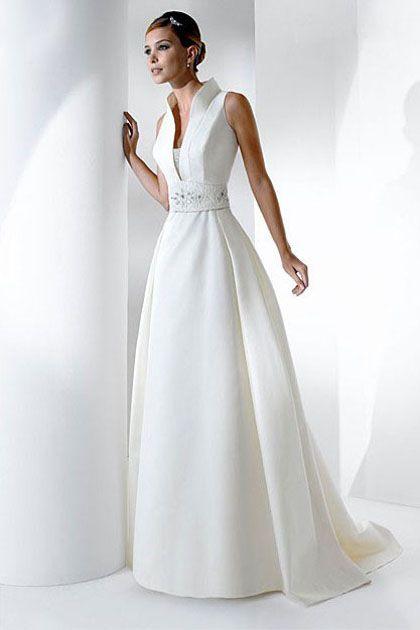 Transcendent White Sleeveless Aline Satin Dress with High