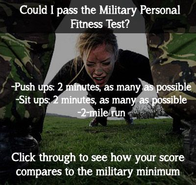 could you pass the military boot camp fitness test? try the workout and click through to see how you compa