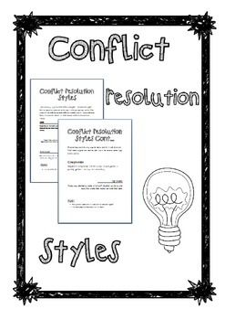 25+ best ideas about Conflict resolution styles on