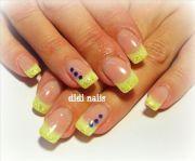 yellow wedding nails tags gel