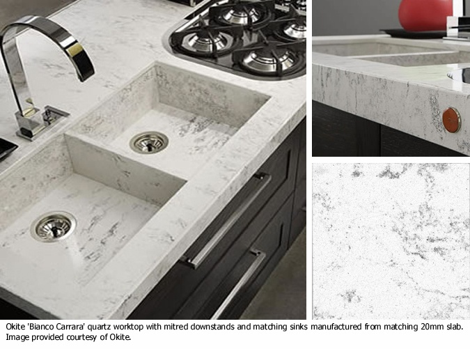 DuPont Zodiaq Bianco Carrara  part of the Okite Collection of colors  Zodiaq Inspiration