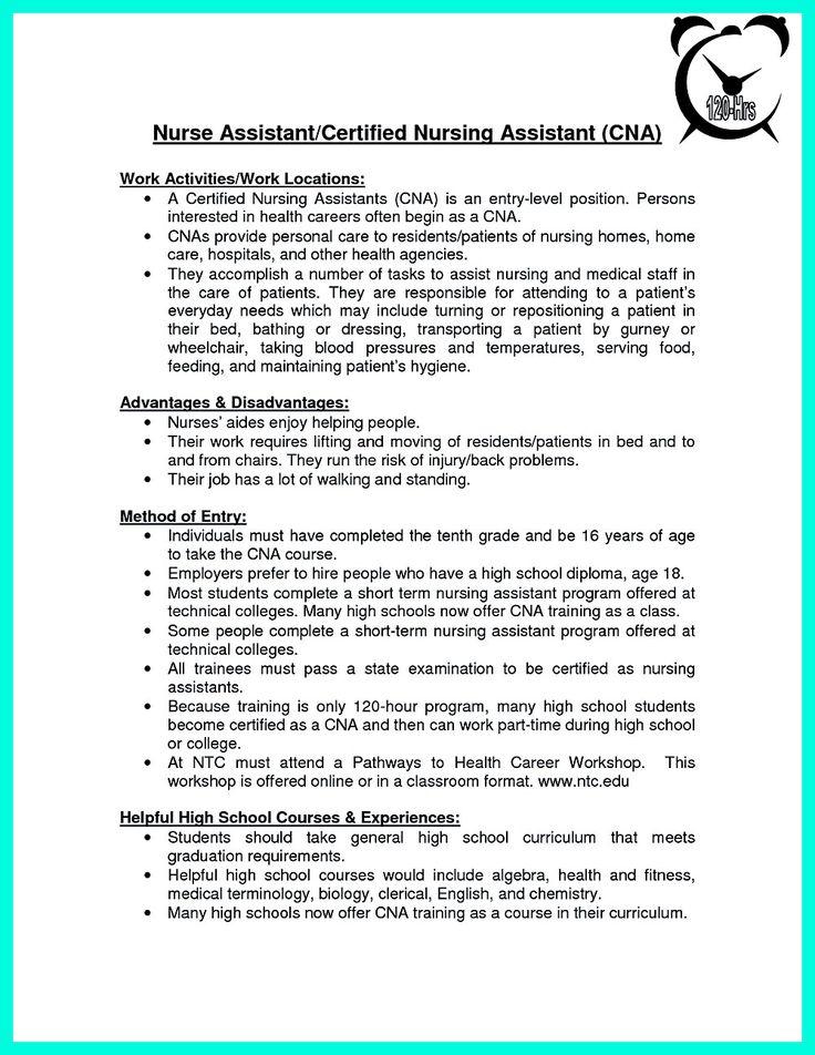 Sample Resume Of Nursing Attendant