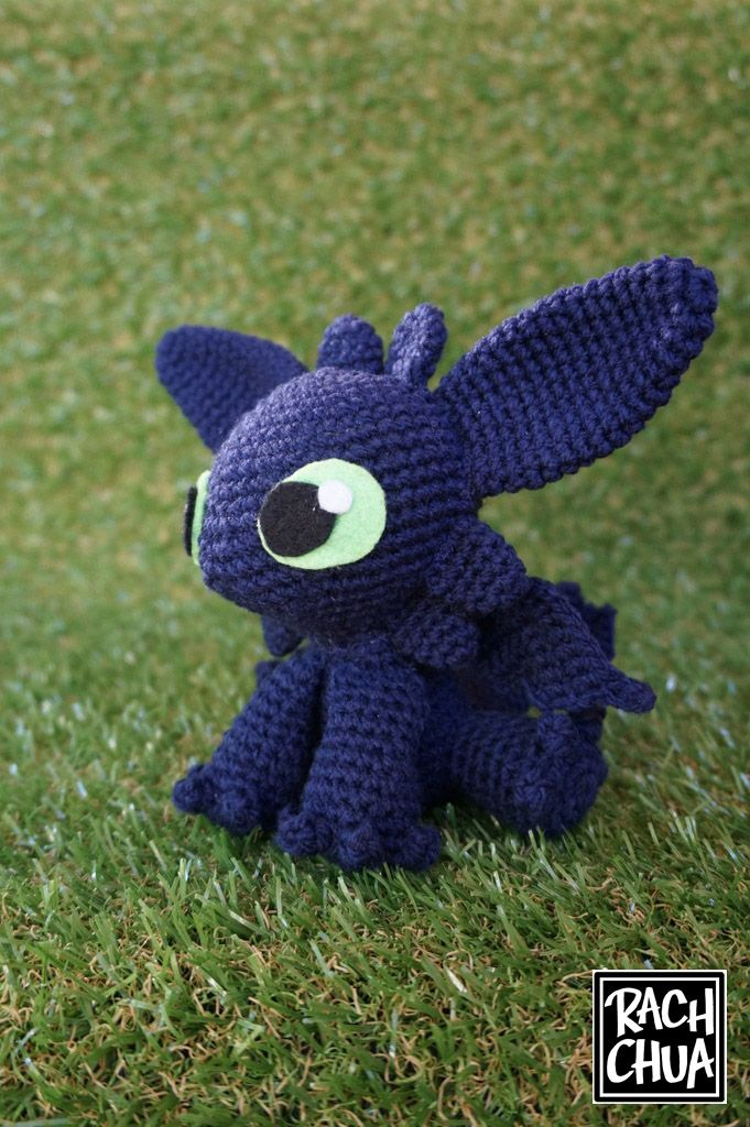 Toothless Dragon Crochet Pattern