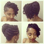 elegant natural updo 4c hair