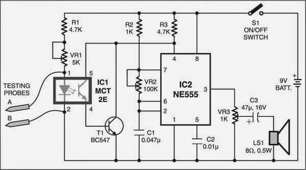 touch switch monostable timer with 555 ic