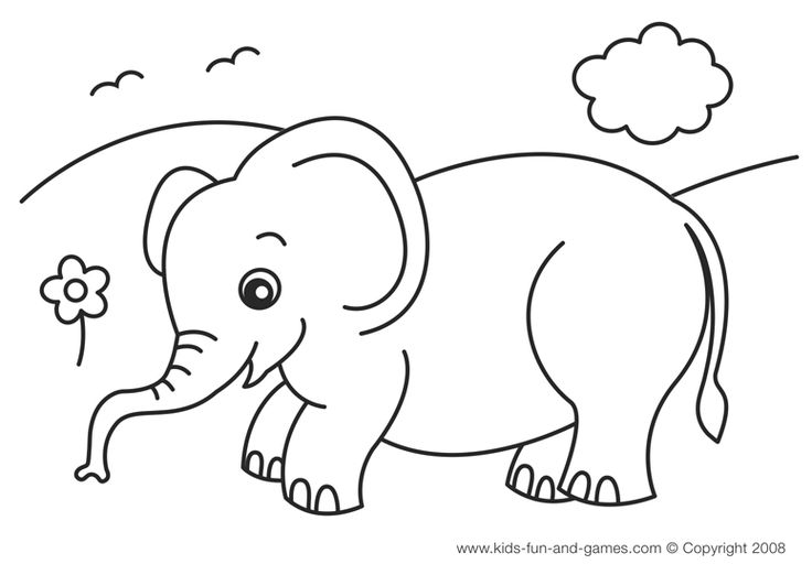1000+ images about Elephant Coloring Pages on Pinterest
