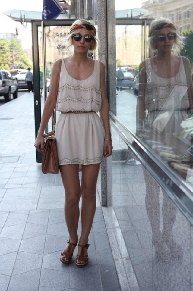 Pretty boho summer style.   H Brand Dress -- Mango Belt -- Marc Jacobs Wedges