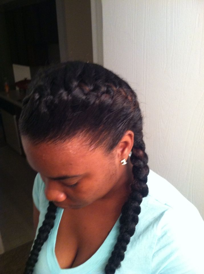 Cute And Simple Underhand Braids With Weave Hairstyles